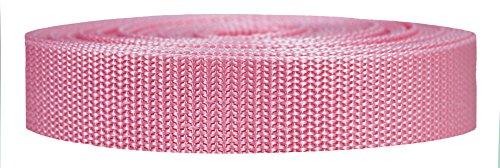 Strapworks Heavyweight Polypropylene Climbing Webbing, Pink, 1