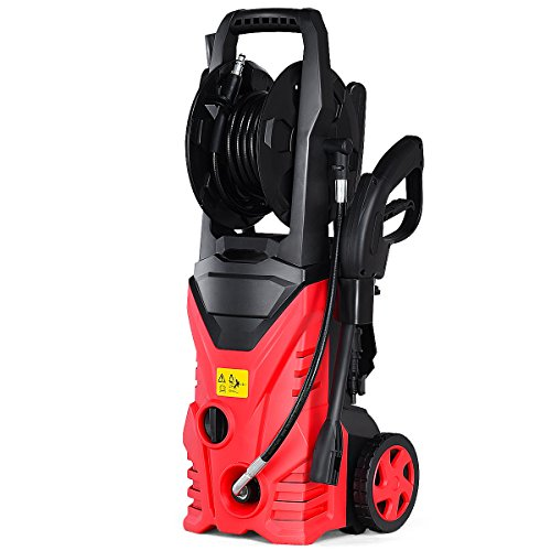 Goplus Electric High Pressure Washer 2030PSI 1.6GPM Power Pressure Washer Machine w/Wash Brush and High Pressure Hose Red by Goplus