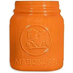 Home Essentials Mason Jar Utensil Holder, Orange, 8""