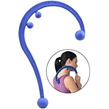 Empower Back and Neck Massager Tool, Trigger Point Self Massage Hook, Myofascial Release, Deep Tissue Massage Hook, Muscle Knots, Blue