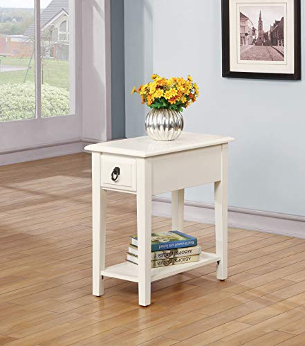 Acme Furniture Jeana 80513 Side Table, White, One Size