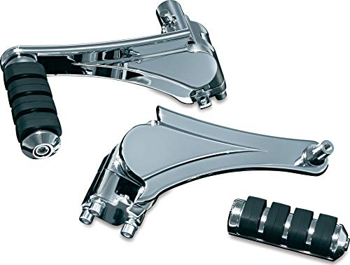 Kuryakyn 4353 Motorcycle Footpegs: Adjustable Passenger Pegs for 2010-19 Harley-Davidson Motorcycles with Fixed Mounts, Chrome, 1 Pair (Screamin Eagle Exhaust For 2014 Street Glide)