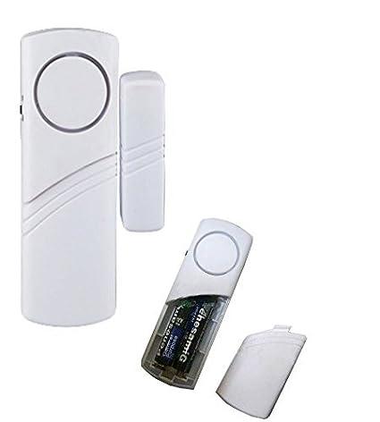 6 mini sensores antirrobo para puertas y ventanas de casa, magnético, alarma acústica y conexión con sirena
