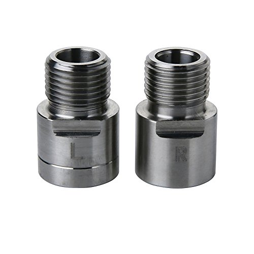 - PROKTH Bike Pedals, Spacer Extenders, 1 Pair Bicycle Pedal Spacers for Universal Fit Bike Pedal Cleat Spacer Extenders Adapters for Any Bicycle 9/16 in. Threaded Pedals (Titanium)