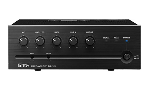 120w Mixer Amplifier - TOA BG-2120CU 120W Mixer-Amp with 5 Inputs (4Ohm/25V/70V)