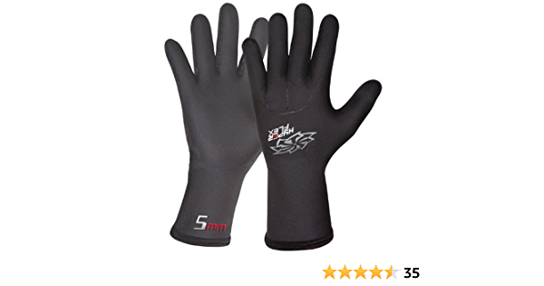 Surfing Perfect for Sailing L Superior Warmth Rowing Canoeing Hyperflex 5mm Neoprene Mesh Wetsuit Gloves Kiteboarding or Scubadiving