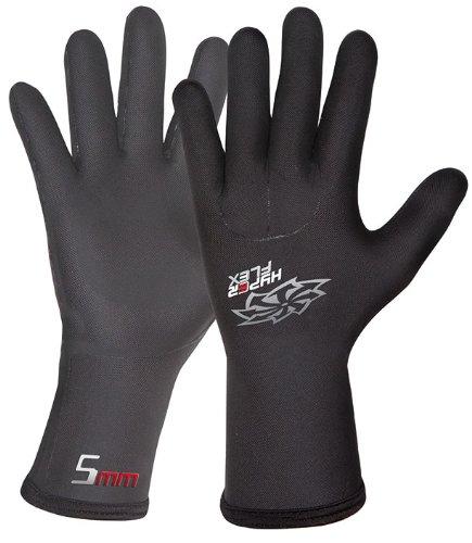 Hyperflex Wetsuits Men's 5mm Mesh Skin Glove, Black, Large - Surfing, Windsurfing & - Wetsuit Mens 5mm