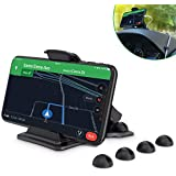 Cell Phone Holder for Car, Maxcio Car Phone Mount with 4 Cable Clip Organizer, Dashboard GPS Holder Mounting in Vehicle Anti-Slip Desk Phone Stand for iPhone Xs/8/7/6s Plus, Samsung Galaxy S9/S8/S7