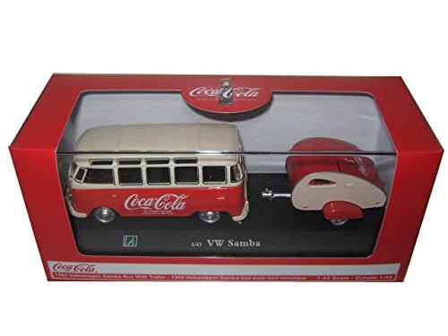 (1962 Volkswagen Samba Bus 100 Years Anniversary of the Coca Cola Bottle 1/43 by Motorcity Classics 467433)