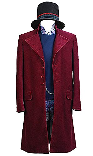 Charlie And The Chocolate Factory Costumes (Charlie and the Chocolate Factory Willy Wonka Costume Halloween Cosplay Outfit X-Large)