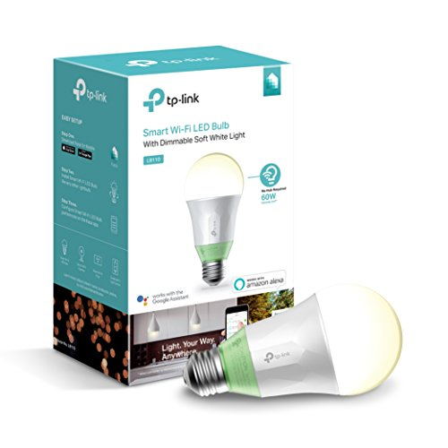 Smart Wi-Fi A19 LED Bulb, Works with Alexa, 2700K Dimmable White, No Hub Required, 60W Equivalent, 1-Pack (LB110) ()