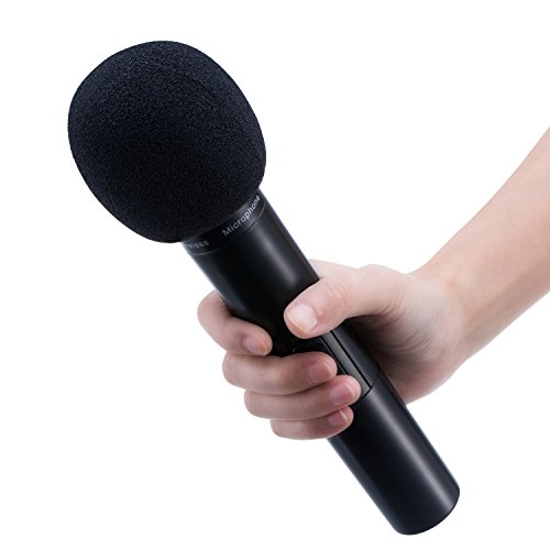 Mudder 5 Pack Foam Mic Cover Handheld Microphone Windscreen, Black - Image 5
