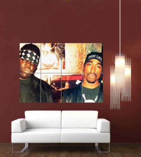 Biggie And Tupac 2Pac Giant Wall Poster Print G632 By Doppelganger33ltd