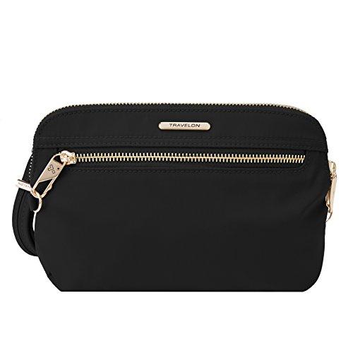 travelon-womens-anti-theft-tailored-convertible-crossbody-clutch-cross-body-bag-onyx-one-size