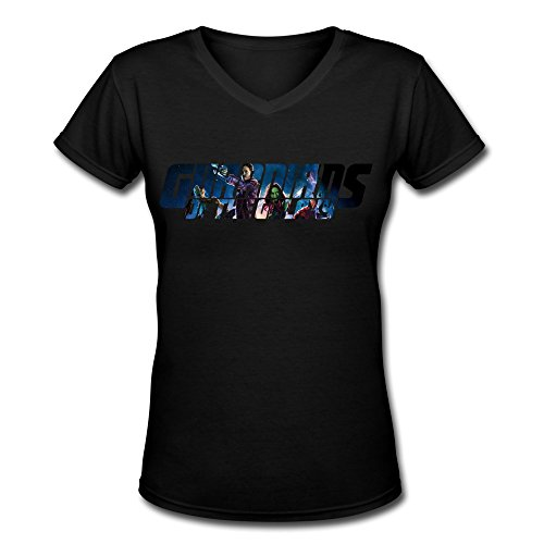 AOPO Guardians Galaxy V-Neck Short Sleeve Tees For Women X-Large