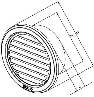MINI c/írculo modelo de ventilaci/ón cubrir los conductos de 70 mm blanco cobertura de ventilaci/ón de alta calidad pl/ástico AEA