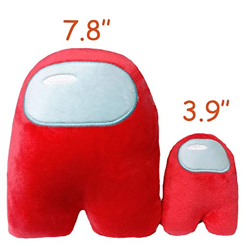 waypool Astronaut Plush Toy Merch Plushie Red White Blue Black Purple Green Pink Yellow Orange Plushies Toys Gifts for Game Fans Crewmate 4.3 inch