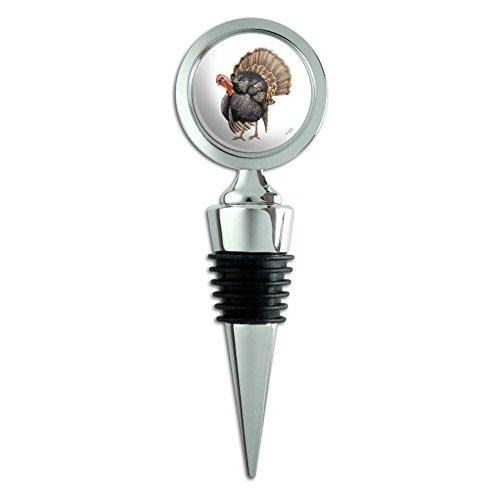Tom the Awesome Wild Turkey Wine Bottle Stopper ()