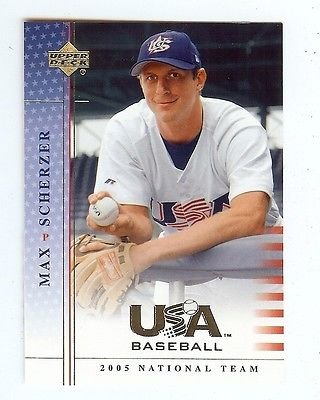 MAX SCHERZER Nationals 2005 UD USA Baseball National Team ROOKIE Card #56 - 2005 Ud Card
