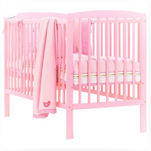 official photos 22566 21c59 Baby Cot Bed with Deluxe Mattress (Pink)