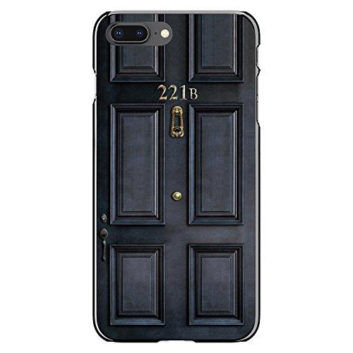 221b Baker Street Game - DistinctInk Case for iPhone 7 Plus / 8 Plus - Custom Ultra Slim Thin Hard Black Plastic Cover - 221b Baker Street