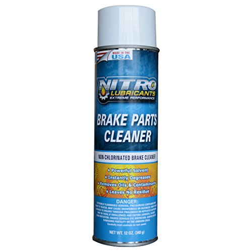 Nitro Lubricants Brake Parts Cleaner - 12 Cans (1 Case) by Nitro Lubricants