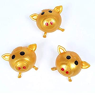 GUCHIS 8PCS Anti-Stress Decompression Splat Ball, Vent Toy Smash Pig Toys,Venting Water Ball Toy for Children: Toys & Games
