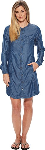 (prAna Aliki Shirt Dresses, Antique Blue, Large)