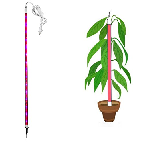 LED Grow Stick - 360 Degree Double Sided - Red and Blue tuned for maximum flowering, hydroponic indoor green house, Plug In by Valed