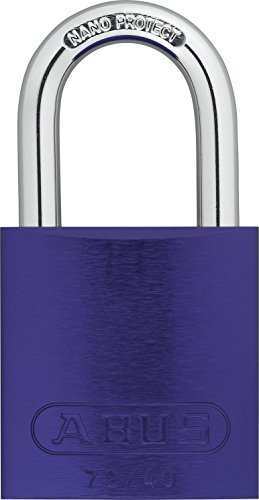 ABUS 72/40 KA Safety Lockout Aluminum Keyed Alike Padlock with 1-Inch shackle, Purple by ABUS