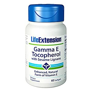 Life Extension Gamma E 340 Mg, 60 softgels