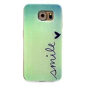 For Galaxy S6 , TUTUWEN Fashion Smile Slim Soft TPU [Flexible] Bumper Rear Skin Protective Case Cover for Samsung Galaxy S6 SM-G920
