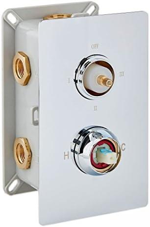 Mitigeur de douche mural /à encastrer UP1-013-01 avec inverseur /à 3 sorties