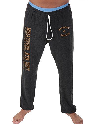 University of Whatever Men Lightweight New Unest jogger pants - Super-soft lounge pants (Charcoal, XL)