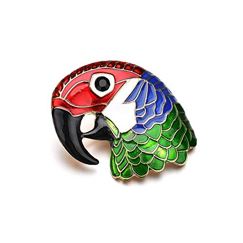 zhuangdian European and American Parrot Head Brooch Color drip Oil Brooch Pin Fast Sell Ebay pin pin Jewelry (Ebay American Girl)