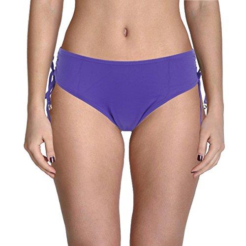 Anne Cole Women's Alex Adjustable Side-Tie Bikini Bottom, Dark Purple, Large Anne Cole Bikini