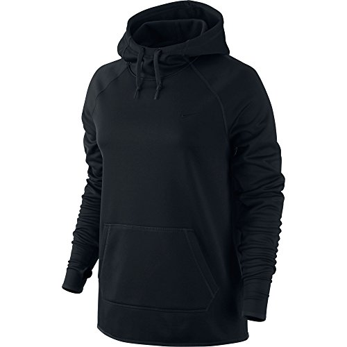 Nike Kvinna Therma Utbildning Hoodie Svart / Svart / Svart