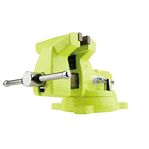 Model 1550 5'' Jaw Width 3-3/4'' Throat Depth High-Visibility Safety Vise W/ Swivel