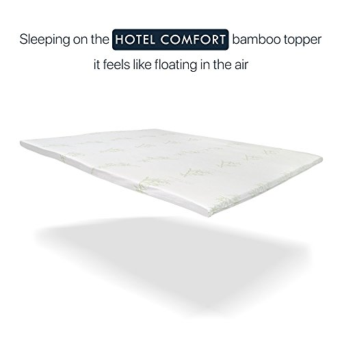 2 Inch Memory Foam Mattress Topper Bamboo Queen Twin King Cool Orthopedic Firm Gel Infused Cooling Natural Topper (KING) by Hotel Comfort