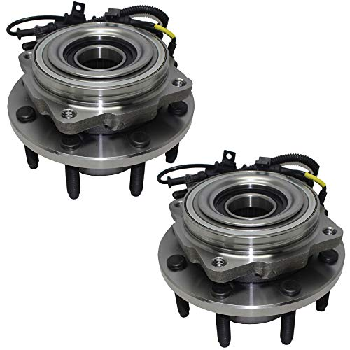 Detroit Axle 2- Brand New (Both) Front Wheel Hub and Bearing Assembly DRW Ford F-250 F-350 Super Duty 4x4 8 Bolt W/ABS (Pair) [DUAL REAR WHEEL]
