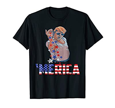 Funny Donald Trump Bae Merica Patriotic 4th July Gift Shirt