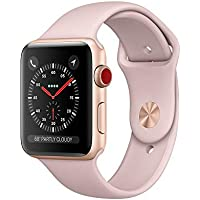 Apple Watch Series 3 38mm GPS + Cellular Aluminum Case Smartwatch (Rose Gold Or Black) - Refurbished