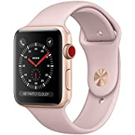 Apple Watch Series 3 38mm Smartwatch (GPS + Cellular, Rose Gold Aluminum Case, Pink Sand Sport...