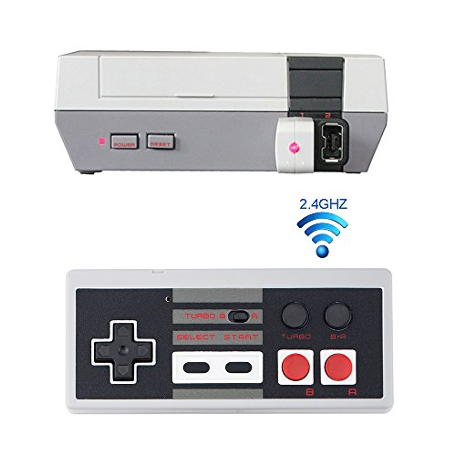 Price comparison product image Rechargeable Wireless NES Classic Controller [Works with Wii U], 2.4GHz NES Classic Edition Mini Wireless Controller (TURBO EDITION),  Wireless Gamepad for Nintendo NES Classic Mini Edition