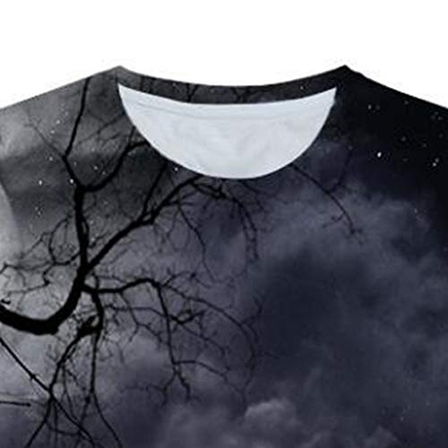 nero Top Slim Originale manica camicetta shirt girocollo Fun Graphic Fit stampato T Uomo corta 3D Amlaiworld Tees 0HYaqnU
