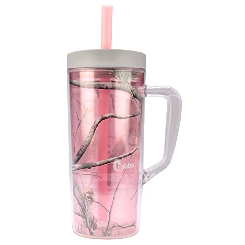 Bubba Envy Double Wall Insulated Straw Tumbler with Handle, 24 oz., RealTree Pink (Insulated Drinking Tumblers)