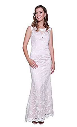 kelaixiang Women's Chiffon Full Length Mother Of The Bride Dress With Sleeves