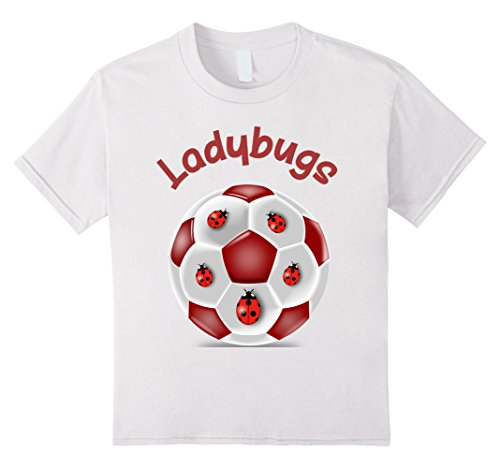 Kids Ladybugs Soccer Player Team Logo T-Shirt 12 White (Player Logo Team)