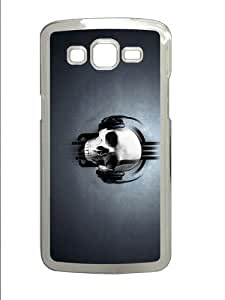cute cover music skull headphones PC Transparent case/cover for Samsung Galaxy Grand 2/7106