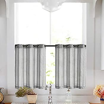 Amazon Com Tier Curtains For Kitchen 24 Inch Length Cafe